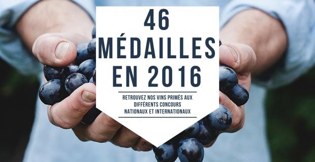 46 médailles en 2016 !