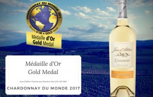 Chardonnay du Monde 2017: A gold medal !