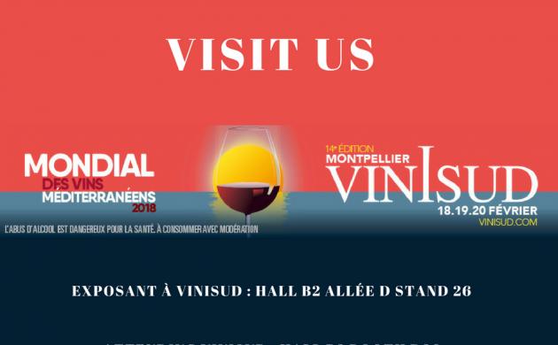 VINISUD 2018: Visit us !